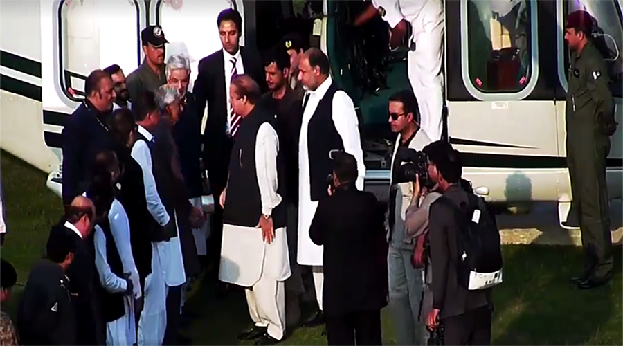 Prime Minister of Pakistan Helicopter Landed in Forward Sports